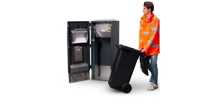 Solar smart bins